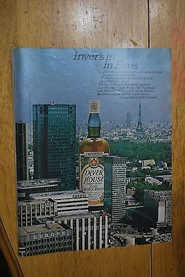 Inver House in Paris  1976 Penthouse Magazine ad - Very Good