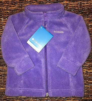 NWT Columbia Toddlers Fleece Full Zip Up Jackets - Navy , Blue, Light Purple