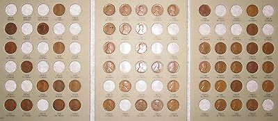Lincoln Wheat Penny Cent Collection 1909-1940 PDS, 53 coins in Album