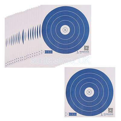 20 Pieces Paper Target Faces Shooting Targets Recurve Bow