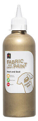EC Paint Fabric And Craft Paint Heat And Seal Non Toxic 500ml - Gold