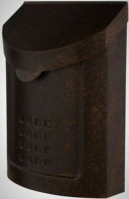Mailboxes Frontyard Locking Steel Wall Mount Copper Stylish Vintage Unique New