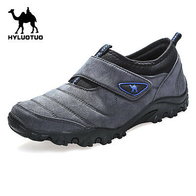 Mens Walking Hiking Trail Outdoors Ventilated Running Trainers Slip on Shoes