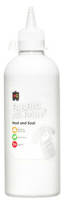 EC Paint Fabric And Craft Paint Heat And Seal Non Toxic 500ml - White