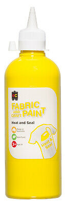 EC Paint Fabric And Craft Paint Heat And Seal Non Toxic 500ml - Yellow