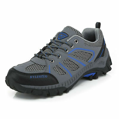 Men's Walking Trail Ventilated Breathable Mesh lightweight low cut Work Shoes