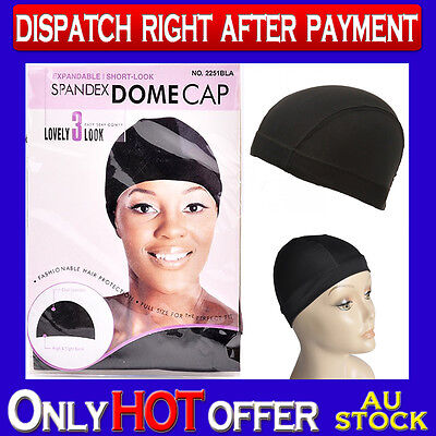 Spandex Dome Cap Expendable Headwrap Durag Keep Hair in Place / Wear Wigs