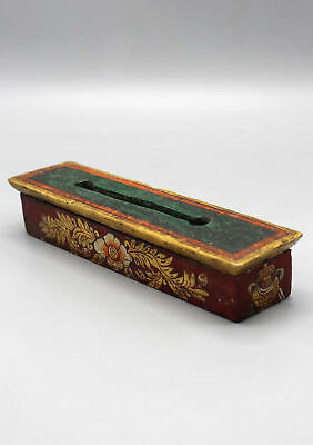 Handcrafted and Hand Painted Wooden Incense Burner Box WIB27