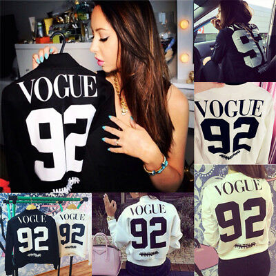 NEW Fashion Women Long Sleeve Tops Ladies T-Shirt Casual Loose Tops Blouse UK