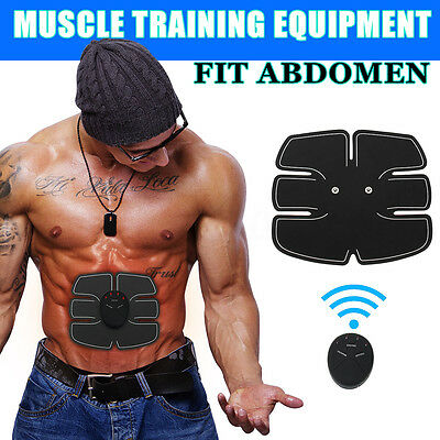 ABS Abdomen Muscle Stimulator EMS Training Electrical Body Shape Home Trainer