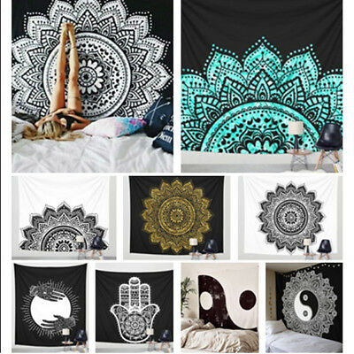 8 Styles Home Decor Wall Hanging Boho Bedspread Mat Mandala Room Tapestry Hippie