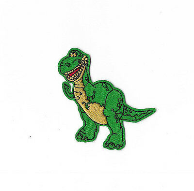 REX THE T-REX IRON ON / SEW ON PATCH Embroidered Cartoon TOY STORY PT226