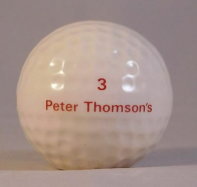 Peter Thompson Beneagles empty china whisky golf ball