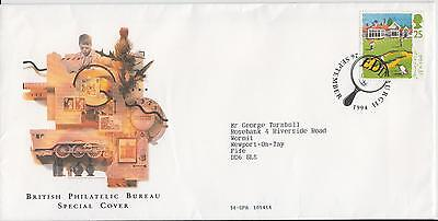 British Philatelic Bereau Special Cover (golf) + 5 golf stamps