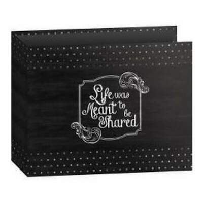 Pioneer 3-Ring Binder Chalkboard Album 12 3-Ring Binder Chalkboard Album 12In...