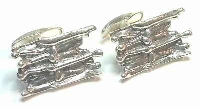 Pentti Sarpaneva Finland - Vintage Sterling Silver Cufflinks from 1971 - Signed