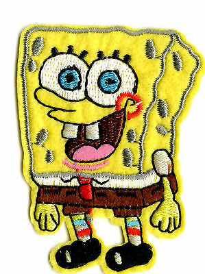 SPONGEBOB SQUAREPANTS  IRON ON / SEW ON PATCH Embroidered Badge Cartoon TV PT53