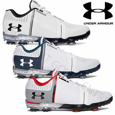 Under Armour 2017 Mens UA Spieth One Leather Waterproof Tour Golf Shoes