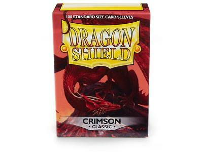 Dragon Shield Crimson 100 protective Sleeves Hüllen Standard Kartenhhülle