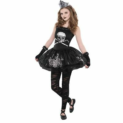 Girls Teen Zomberina Zombie Halloween Costume Fancy Dress Outfit 12-14 Years