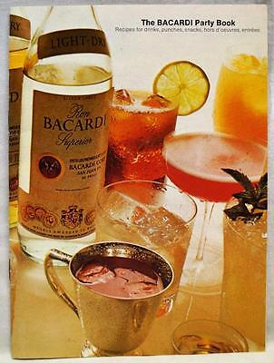 The Bacardi Party Book Recipes Drinks Punches Snaks Brochure Guide 1973 Vintage