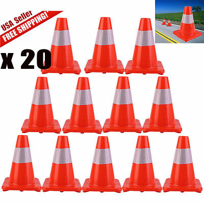 """12'' 18"""" 28'' Reflective Red Wide Body Safety Cones Construction Traffic Sport J"""
