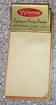 Small Vintage Metal Advertising CLIPBOARD* Seattle WA* Western* mid century