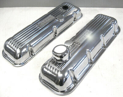 1965-73 Chevy Chevrolet Yenko 427 Embossed New Valve Covers Rare Pair Big Block