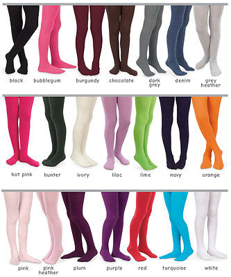 NWT Jefferies Socks Pima Cotton Footed Tights Baby Toddlers Girls Choose Color