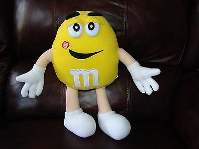 Yellow Boy M&M w/ Lipstick Mark on Face Plush Doll 13 1/2""