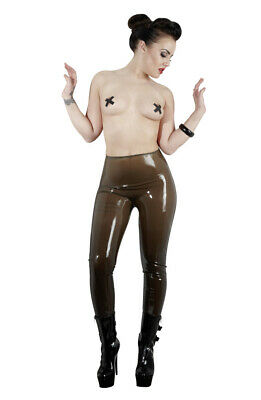 Panta Collant Pantalone Piede Intero Marrone Fumo Latex Accessori Erotici Fetish