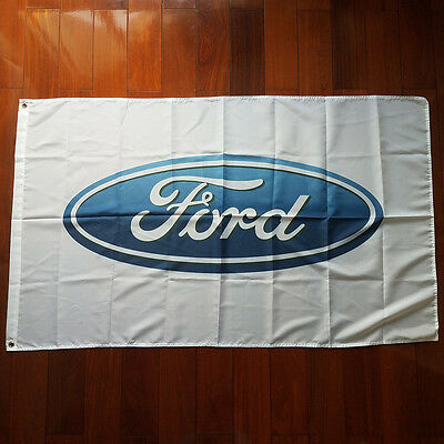Car Racing Outdoor House Banner flag for Ford 3x5Ft Flag White