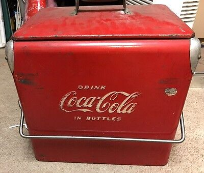 Vintage Coke Coca-Cola Action Cooler Soda Can Bottle Picnic 6 Pack Rare Htf