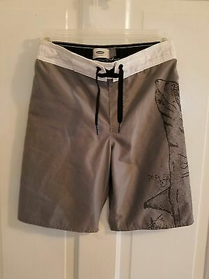 Boy's Old Navy Gray Shark Swim Trunks Size M (8)