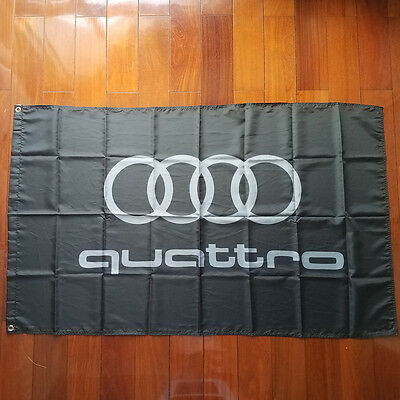 Car Racing Outdoor House Banner flag for AUDI 3x5Ft Flag Black