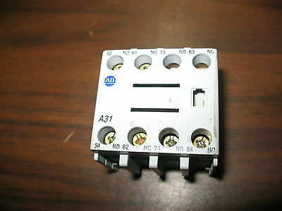 Allen Bradley 100-FA31 Series A Auxiliary Contact 3 NO and 1 NC Contacts