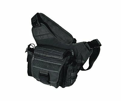 UTG BORSA TATTICA TAKTISCHE MULTI FUNCTIONAL TACTICAL MESSENGER BAG NERO Nuovo