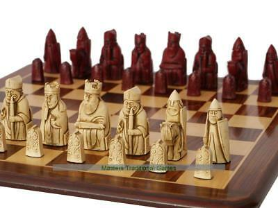 Berkeley Isle of Lewis Chess Set (cream and red)