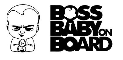 """BOSS Baby on Board"" movie decal window sticker Suv Car Custom Vinyl Funny BL"