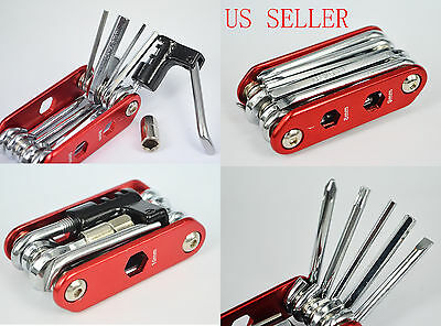 14in1 Multi-function Bike Bicycle Chain Extractor Cycling Repair Tools Kit set