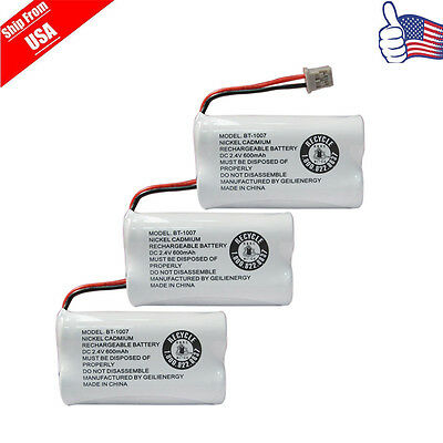 Replacement Battery For Uniden DECT 6.0 BT1007 BT1015 Cordless Phone 3-PACK USA