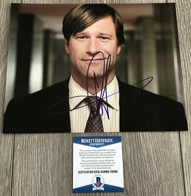 AARON ECKHART SIGNED AUTOGRAPH THANK YOU FOR SMOKING BATMAN 8x10 PHOTO B w/PROOF