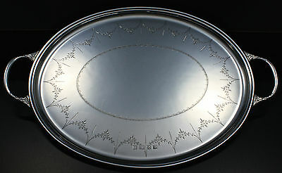 Tablett Silber tray Sterling silver George III-Style