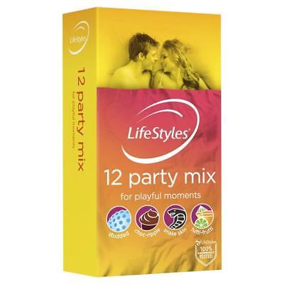 Ansell LifeStyles Condoms Party Mix 12 Pack
