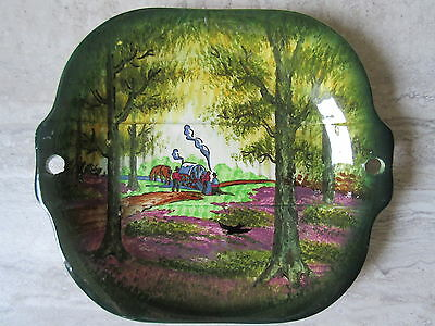 Antique Handpainted Germany Gypsy Forest Scene Plate