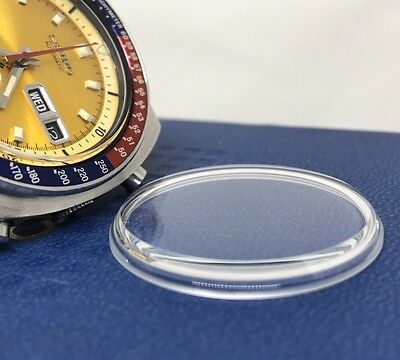 New Glass crystal Seiko 6139-6002 6001 6139-6000 6139-6005  Yellow Pepsi Pogue