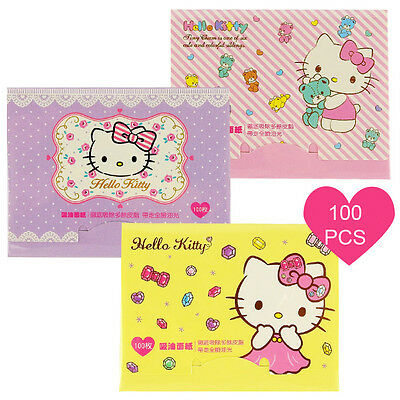 [SANRIO HELLO KITTY] Oil Absorbent Paper 100pcs x 3 Packs NEW