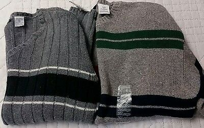 Lot of 2 Gray Dressy Sweaters. Boys XL (18-20). Willow Bay, Hunt Club Great cond