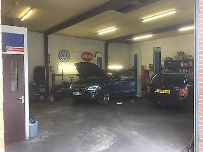 Vw Audi seat and skoda Specialist Garage Business For Sale derbyshire