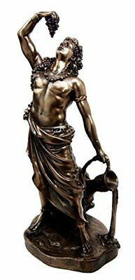 "11.5""H Greek God of Wine Dionysus Bacchus Figurine Decorative Statue Zeus Son"